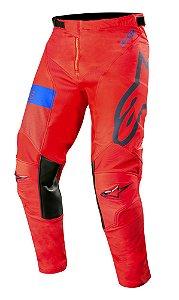 Calça Cross Alpinestars Racer Tech Atomic 2019 Vermelho Azul