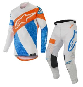 Conjunto Cross Alpinestars Tech Atomic 2019 cinz Laranja KTM