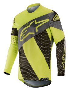 Camisa Cross Alpinestars Tech Atomic 2019 Preto Amarelo