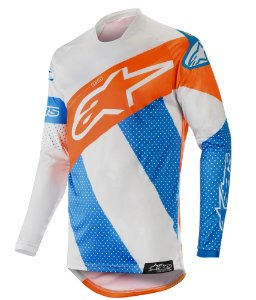 Camisa Cross Alpinestars Tech Atomic 2019 cinza Laranja KTM
