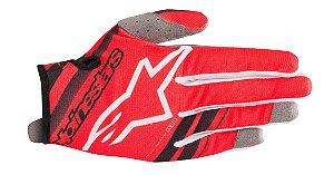 Luva Cross Motocross Alpinestars Radar 2019 Vermelho Preto