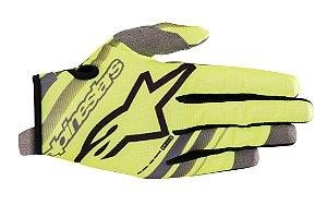 Luva Cross Motocross Alpinestars Radar 2019 Amarelo Cinza