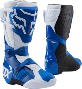 Bota Cross Motocross Off Road Fox 180 Azul e Branca