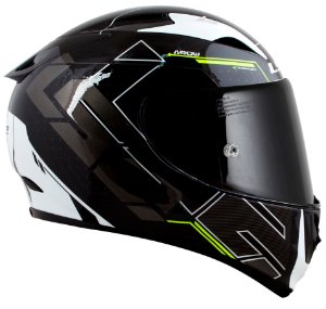 Capacete Ls2 Ff323 Arrow R Techno preto amarelo Tricomposto