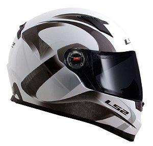 Capacete LS2 FF358 Velvet - Branco/Cinza