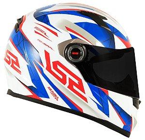 Capacete LS2 FF358 Draze - Branco/Azul/Vermelho