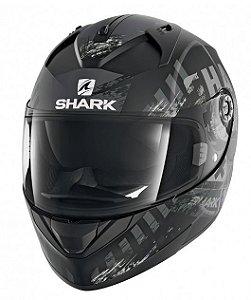 Capacete Shark Ridill Skyd KAS -  Preto/Cinza Fosco