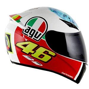 Capacete Agv K3 The Eye - Branco Valentino Rossi