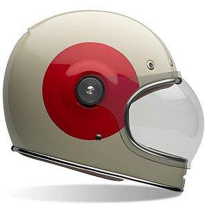 Capacete Bell Bullit Tt Gloss Vintage Branco Vermelho