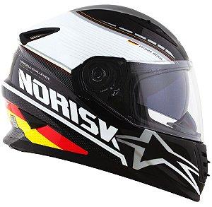 Capacete Norisk FF302 Grand Prix Alemanha - Preto/Vermelho/Amarelo
