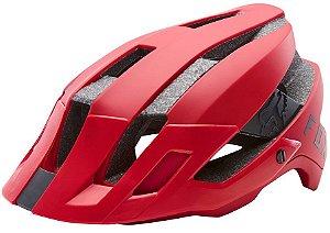 Capacete Bike Bicicleta Fox Flux Solid Vermelho Pedal