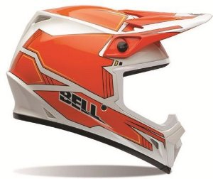 Capacete Motocross Bell Mx-9 Blockade Orange Cross Mx9