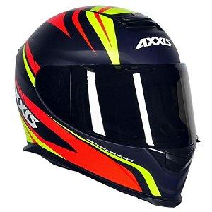 Capacete Axxis Eagle Hybrid - Azul/Amarelo/Vermelho Fosco