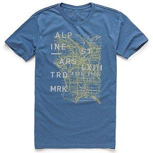 Camiseta Alpinestars Map Azul