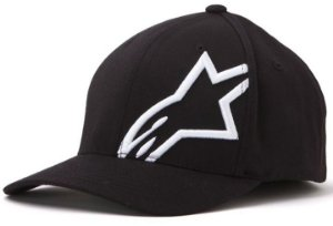 Boné Alpinestars Corp Shift 2 Flexfit - Preto/Branco