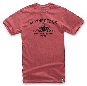 Camiseta Alpinestars Burnout Vermelho