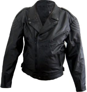 Jaqueta De Couro Augustus Militar Motociclista Jmmx003