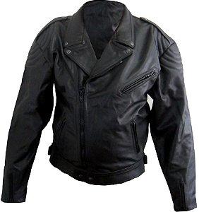 Jaqueta De Couro Augustus Motociclista Militar Jcmx003