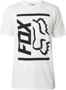 Camiseta Fox Side Barred Premium Branca Sem costura Lateral