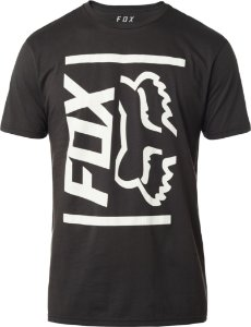 Camiseta Fox Side Barred Premium Preta Sem costura Lateral