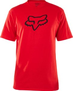 Camiseta Fox Legacy Head Vermelho Sem Costura Lateral Orig