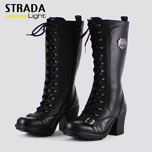 Bota Mondeo Strada Light 2626 - Preta (Feminina - Salto alto)