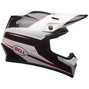 Capacete Motocross Bell Mx-9 Mips Stryker Preto Branco Mx9