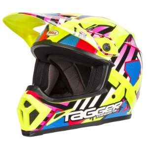 Capacete Motocross Bell Mx-9 Mips Mx9 Double Trouble Amarelo
