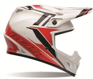 Capacete Motocross Bell Mx-9 Barricade Red Cross Trilha Mx9