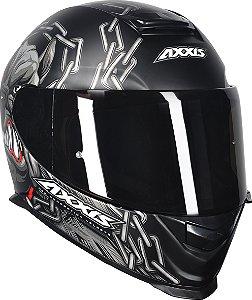 Capacete Axxis Eagle Bull Cyber - Preto Fosco