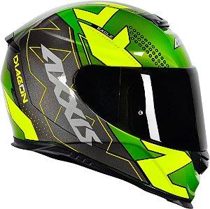 Capacete Axxis Eagle Diagon - Verde/Amarelo Brilho
