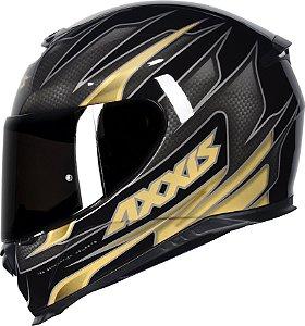 Capacete Axxis Eagle Speed - Preto/Dourado Brilho