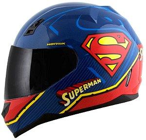 Capacete Norisk FF391 Superman Symbol - Azul/Vermelho