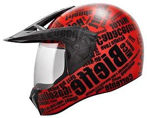 Capacete Bieffe 3 Sport Mirror - Vermelho/Preto Fosco