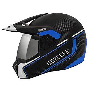 Capacete Bieffe 3 Sport Stato Azul Fosco Motocross