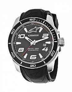 Relógio Alpinestars Tech 3H - Prata/Preto Silicone