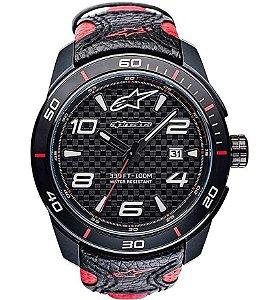 Relógio Alpinestars Tech 3H - Preto/Vermelho Couro