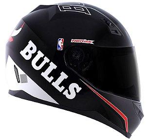 Capacete Norisk FF391 Nba Chicago Bulls - Preto/Branco