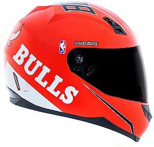 Capacete Norisk FF391 Nba Chicago Bulls - Vermelho/Branco