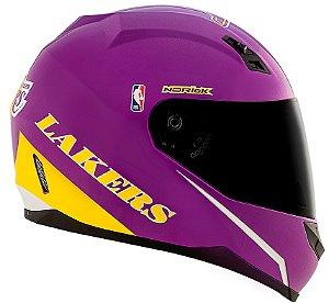 Capacete Norisk FF391 Nba Los Angeles Lakers - Roxo/Amarelo