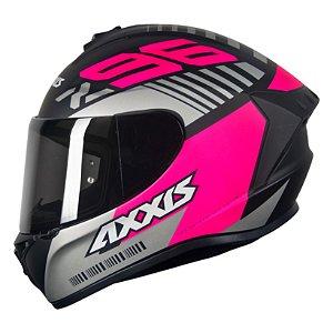 Capacete Axxis Draken Z96 - Preto/Rosa Fosco