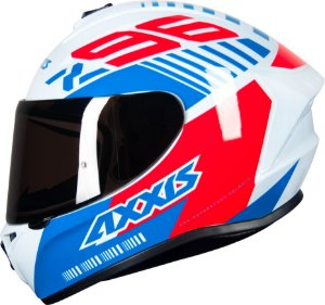 Capacete Axxis Draken Z96 - Branco/Vermelho/Azul Brilho
