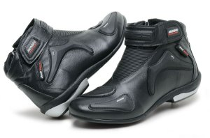 Bota Mondeo Couro Custom Soft Race Slim 5555 Motociclista