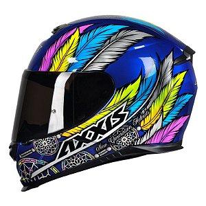 Capacete Axxis Eagle Dreams - Azul/Cinza