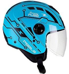 Capacete Peels Freeway Fuse - Azul Fosco/Preto