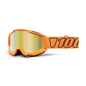 Óculos 100% Accuri Luminari - Laranja/dourado