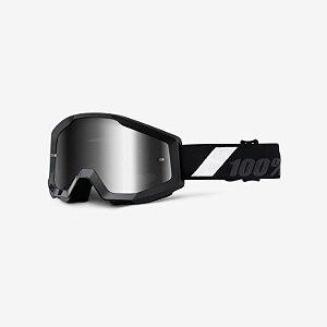 Óculos 100% Strata Goliath - Preto/Branco