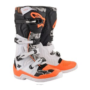 Bota Motocross Alpinestars Tech 5 Branco Laranja KTM Cross