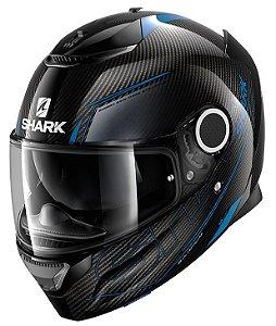 Capacete Shark Spartan Carbon Silicium - Preto/Azul