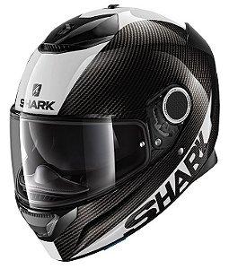 Capacete Shark Spartan Carbon Skin - Preto/Branco